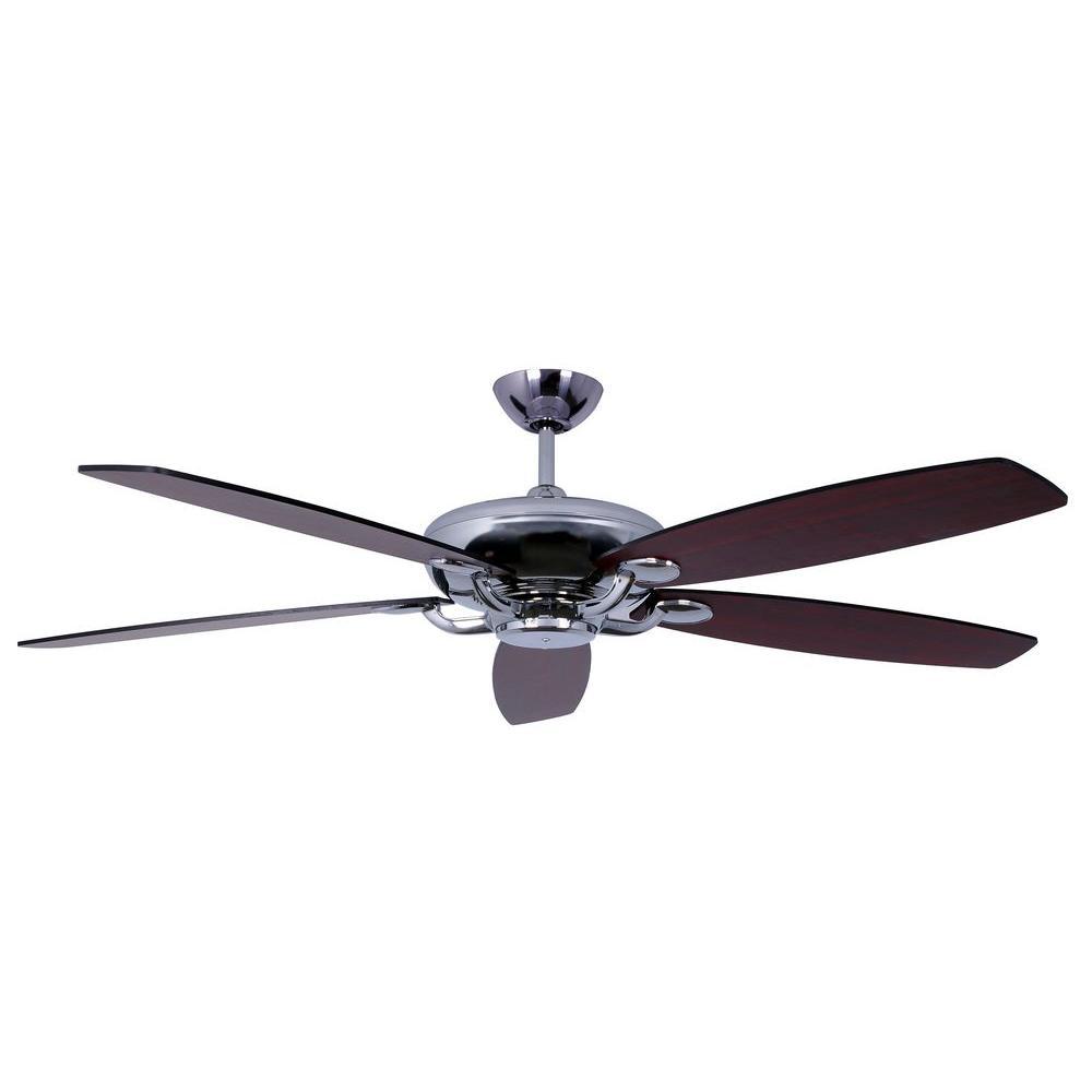 Avia Series 60 in. Indoor Stainless Steel Ceiling Fan