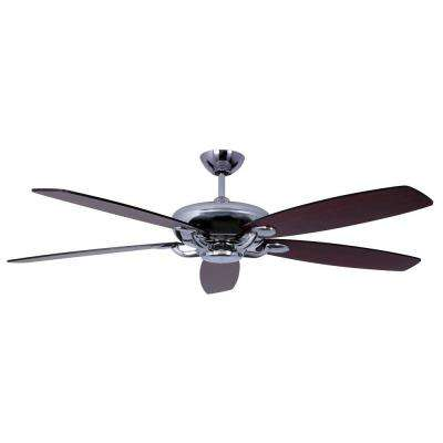 Avia Series 60 in. Indoor Stainless Steel Ceiling Fan