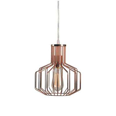 Irena 1-Light Copper Swag Pendant