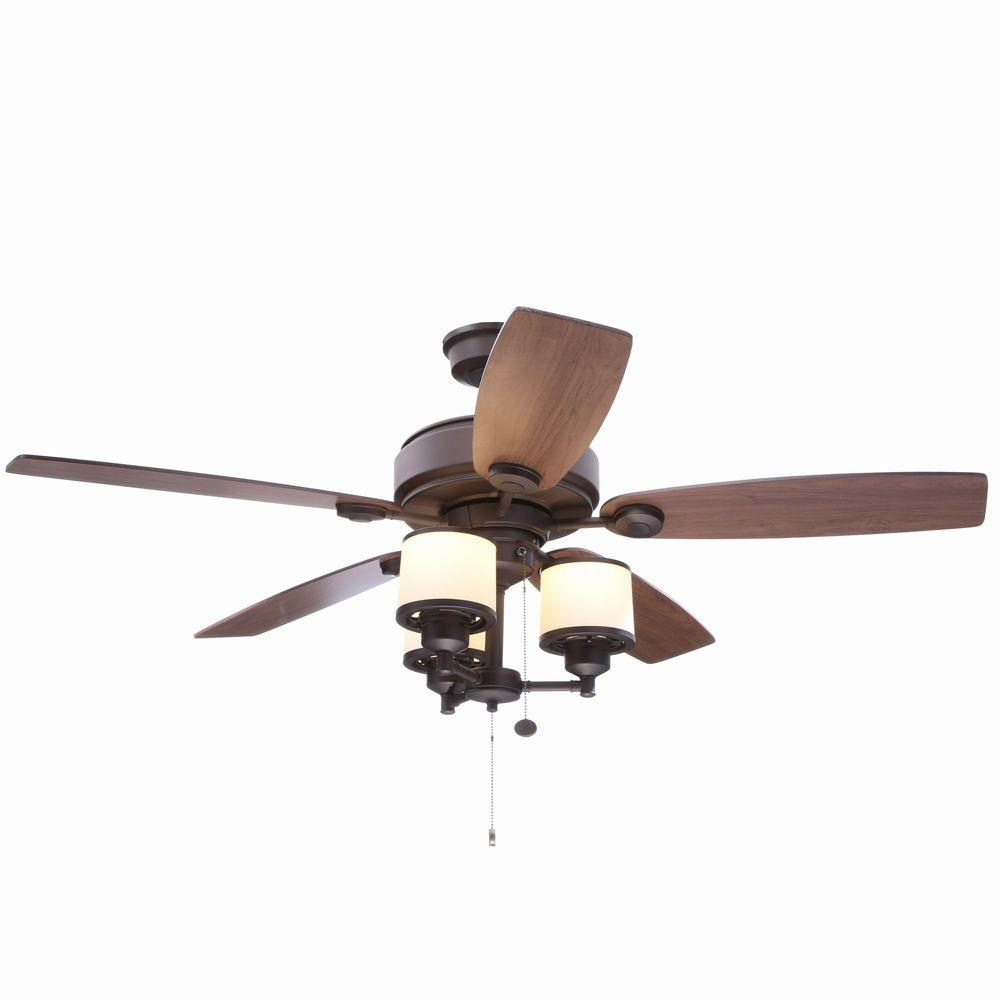Hampton Bay Waterton II 52 in. Indoor Oil-Rubbed Bronze Ceiling Fan with Light Kit