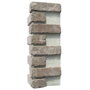 Brickwebb Rushmore Thin Brick Sheets - Corners (Box of 3 Sheets)  21 in x 15 in (5.3 linear ft.)