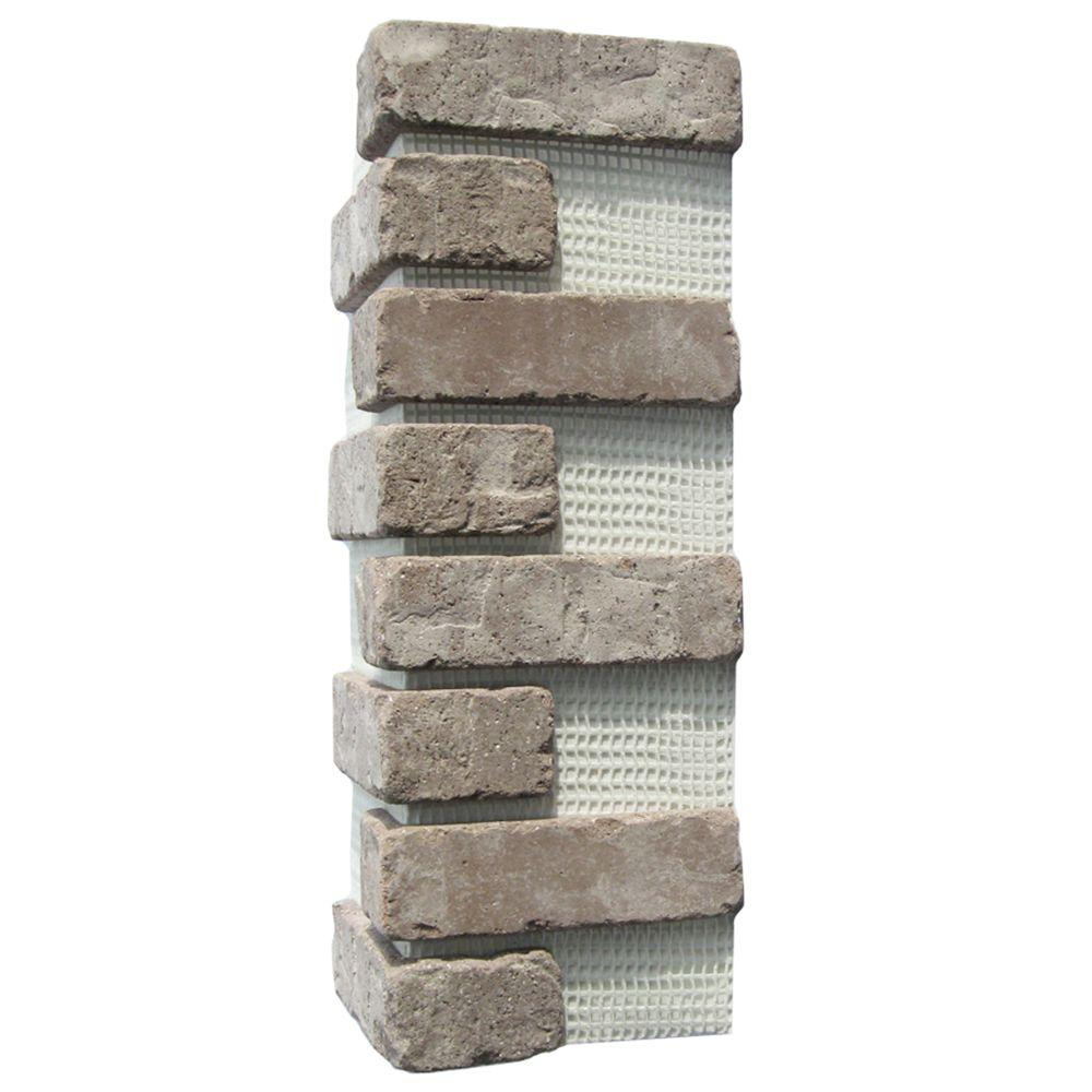 Old Mill Brick Brickwebb Rushmore Thin Brick Sheets - Corners (Box of 3 Sheets)  21 in x 15 in (5.3 linear ft.)
