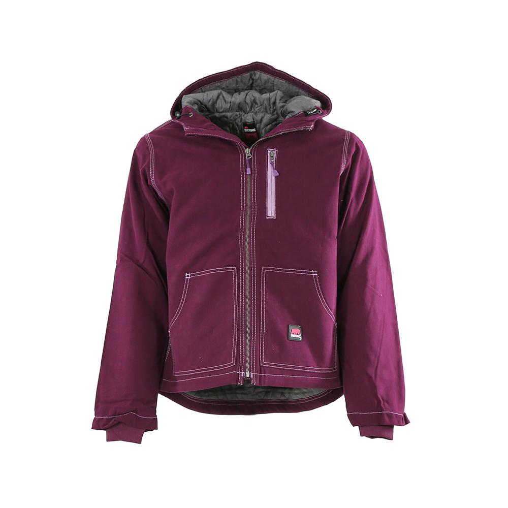 9b4c2a8ba Berne Women's Medium Plum 100% Cotton Modern Hooded Jacket