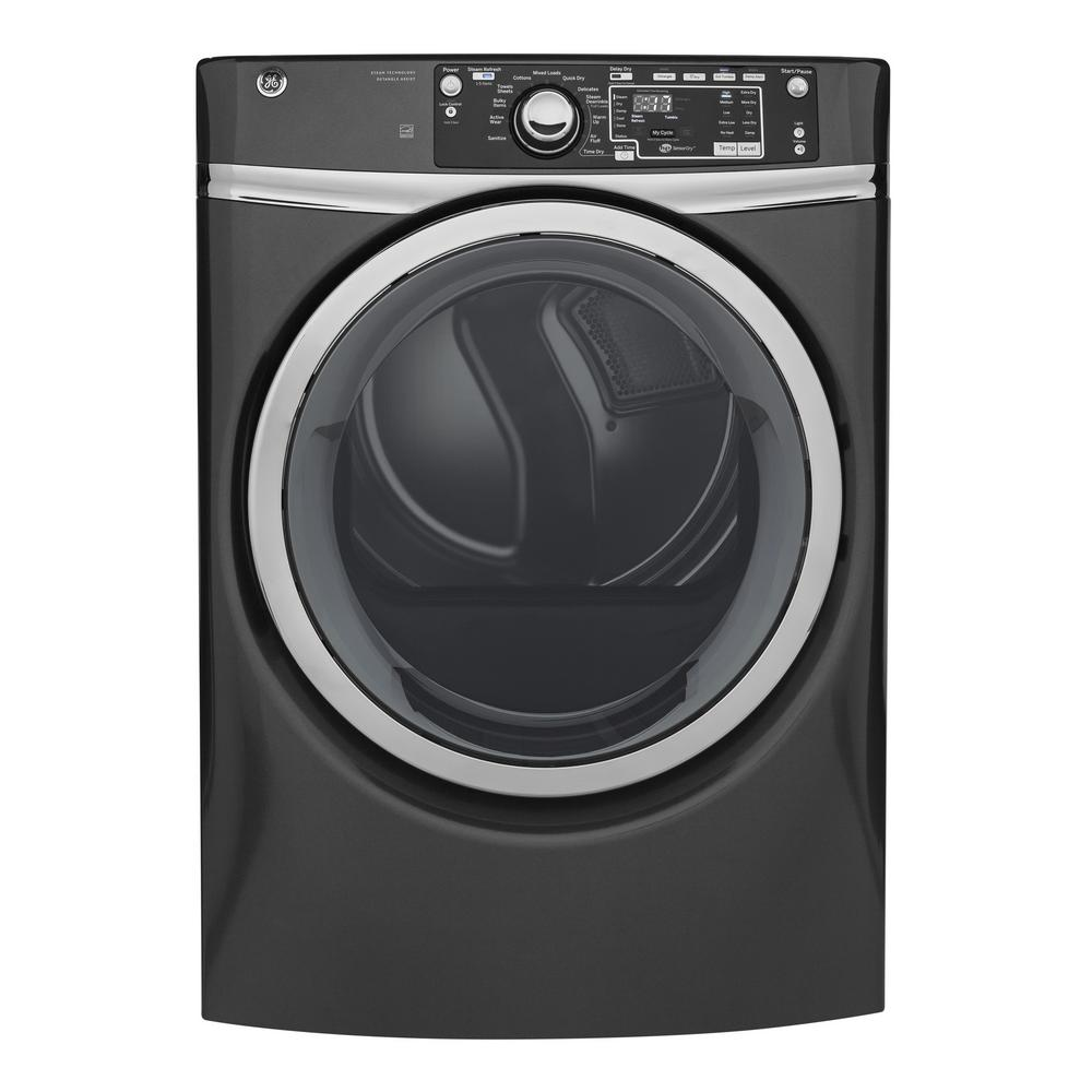 Samsung 75 Cu Ft Electric Dryer With Steam In Platinum Energy Installing Outlet Laundry Room4wiredryerjpg 240 Volt Diamond Gray Stackable Vented