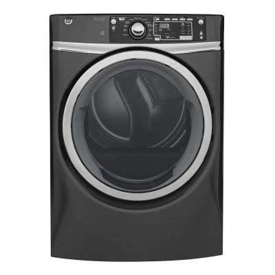 8.3 cu. ft. 240 Volt Diamond Gray Stackable Electric Vented Dryer with Steam, ENERGY STAR