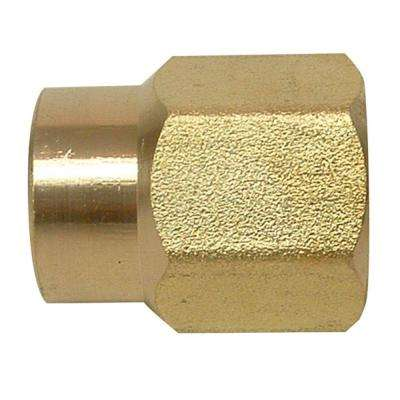 3/8 in. FIP x 1/4 in. FIP Lead-Free Brass Pipe Coupling