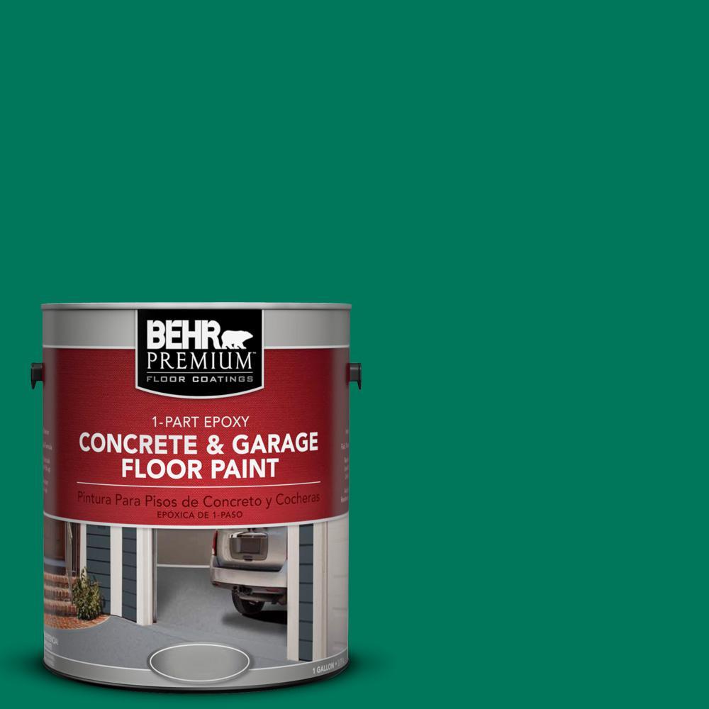 1 gal. #OSHA-2 Osha Safety GREEN 1-Part Epoxy Concrete and Garage Floor Paint
