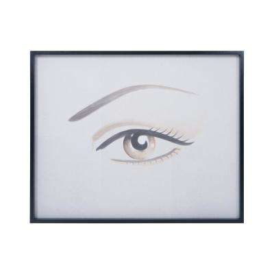 """36 in. x 44 in. """"Overscale Eye"""" Hand Painted Framed Wall Art"""