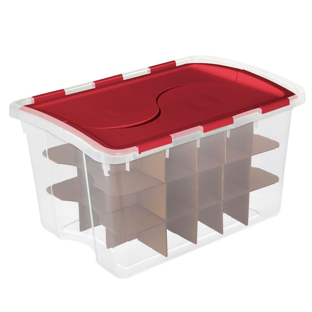 Sterilite Clear Ornament Storage Box 45 Ornaments