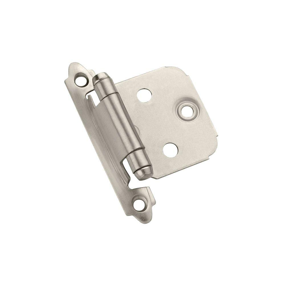 Satin Nickel Face-Mount Variable Overlay Hinges