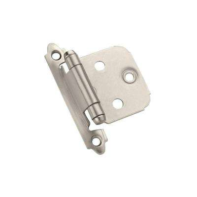 Satin Nickel Face Mount Variable Overlay Hinges