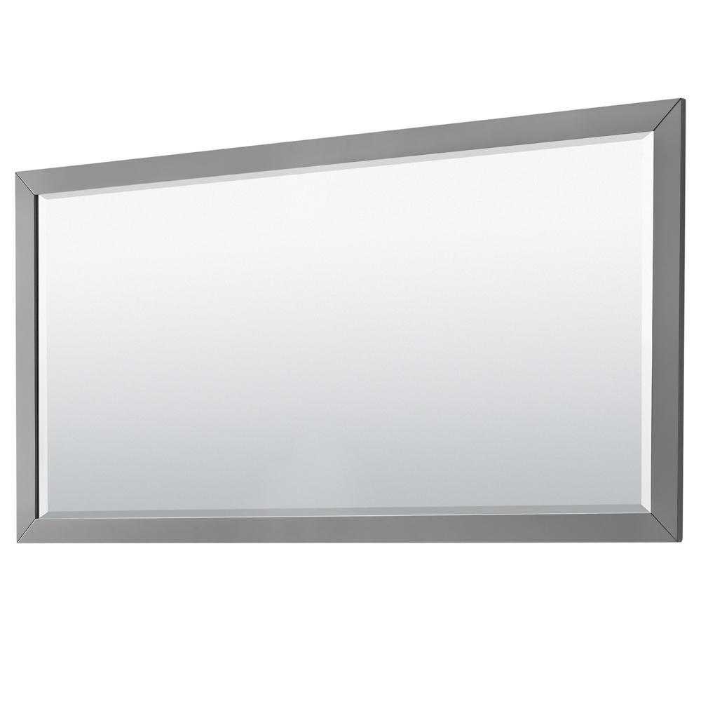 Daria 70 in. W x 33 in. H Framed Wall Mirror in Dark Gray