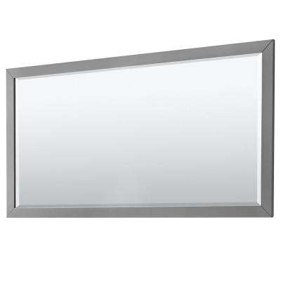 Daria 70 in. W x 36 in. H Framed Wall Mirror in Dark Gray