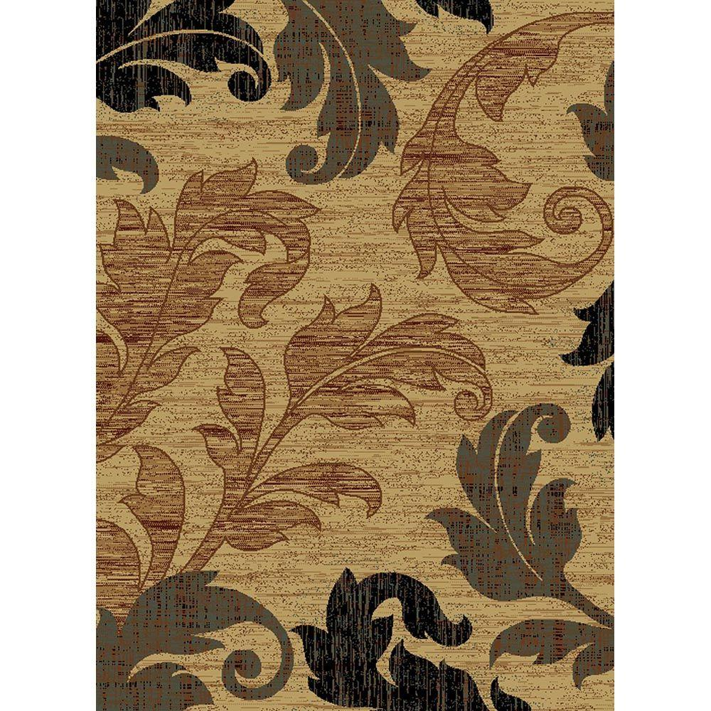 United Weavers Gala Cream 5 ft. 3 in. x 7 ft. 2 in. Area Rug