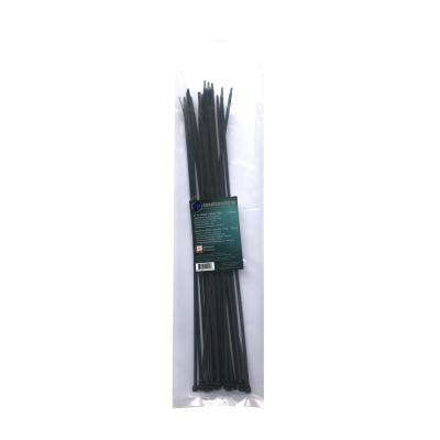 17 in. Black UV Cable Tie (25-Pack)