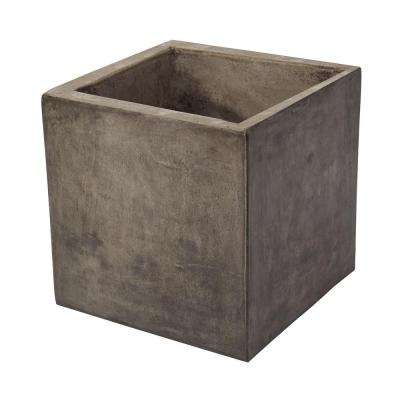 Cubo 12 in. x 12 in. Square Gray Cement Planter