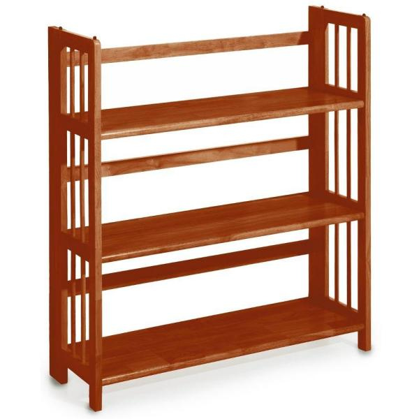 Casual Home Walnut Folding/Stacking Open Bookcase 330-23
