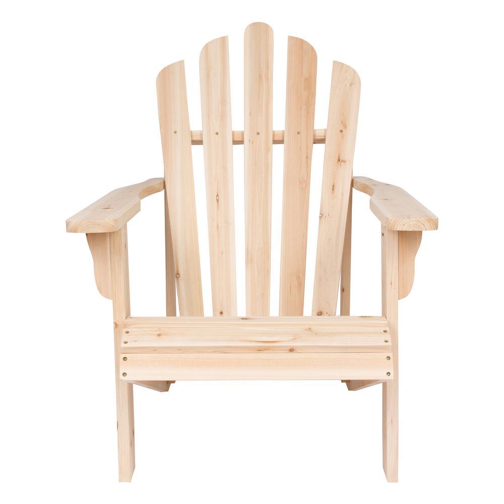 Superbe Westport Cedar Wood Adirondack Chair   Natural