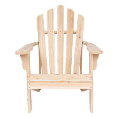 Westport Cedar Wood Adirondack Chair - Natural