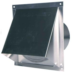 Master Flow 6 In Round Wall Vent With Screen And Damper