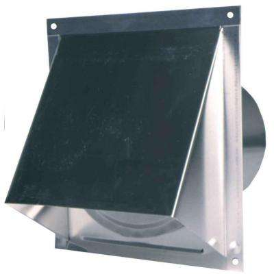 6 in. Round Wall Vent with Screen and Damper