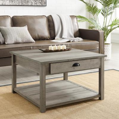 30 in. Square Country Coffee Table - Grey Wash