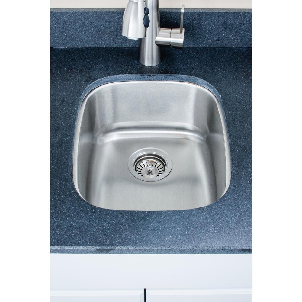 The Craftsmen Series Undermount  Stainless Steel 15 in. Single Bowl Kitchen Sink