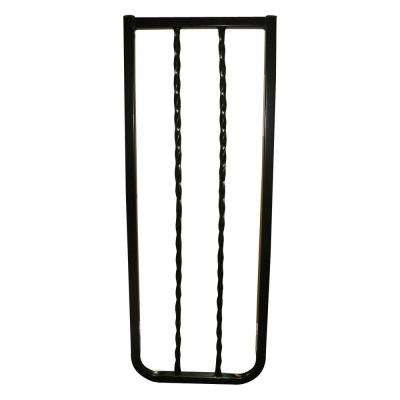 30 in. H x 10.5 in. W x 2 in. D Extension for Wrought Iron Decor Gate Black