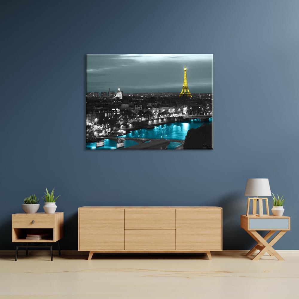 """""""Paris"""" by Revolver Ocelot Unframed Canvas Wall Art"""