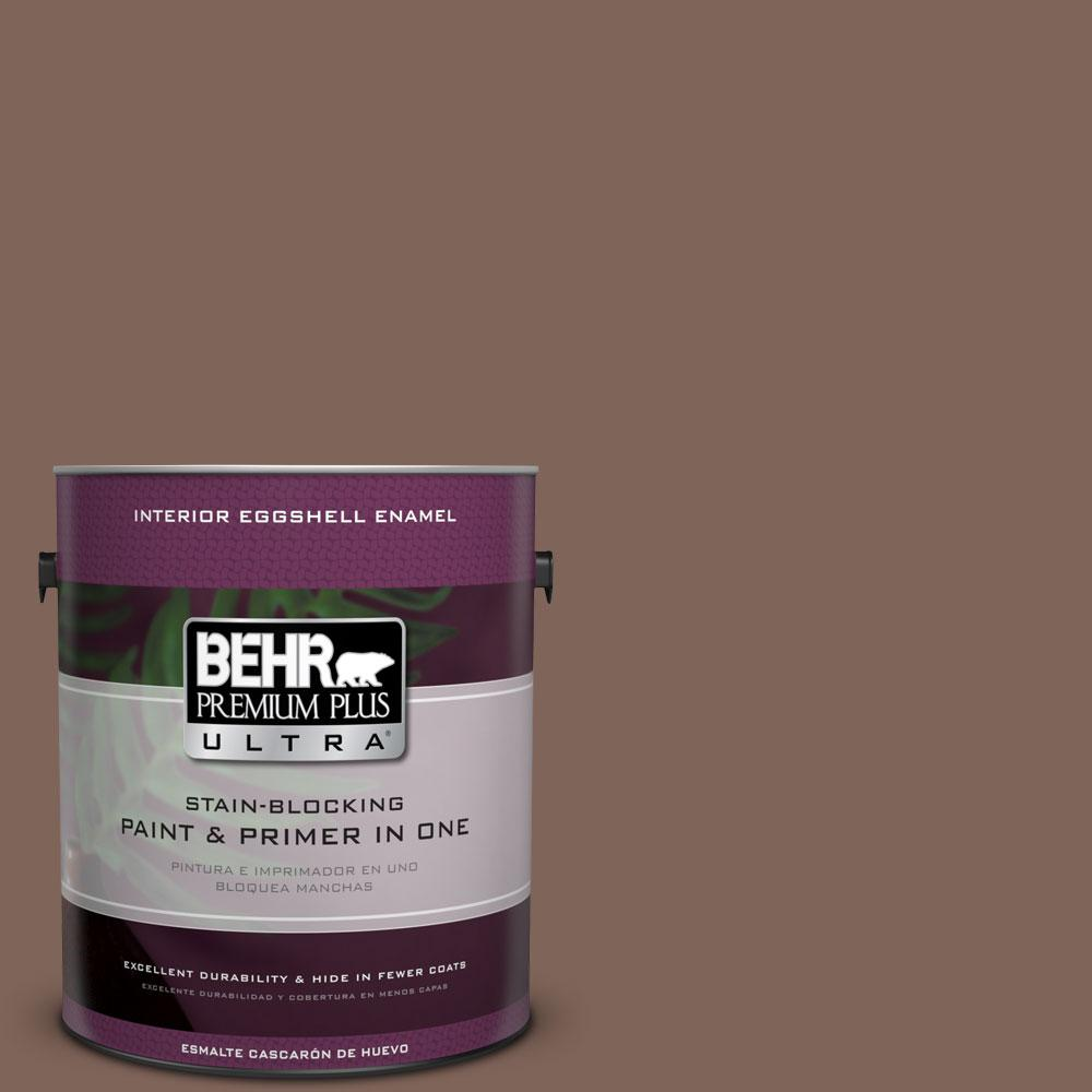 BEHR Premium Plus Ultra Home Decorators Collection 1-gal. #HDC-AC-05 Cocoa Shell Eggshell Enamel Interior Paint