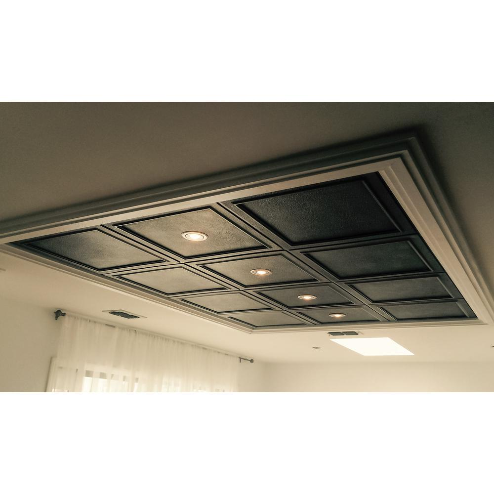 Udecor Belgium 2 Ft X 2 Ft Lay In Or Glue Up Ceiling Tile In Antique Nickel 40 Sq Ft Case Ct 1121 Sxys The Home Depot