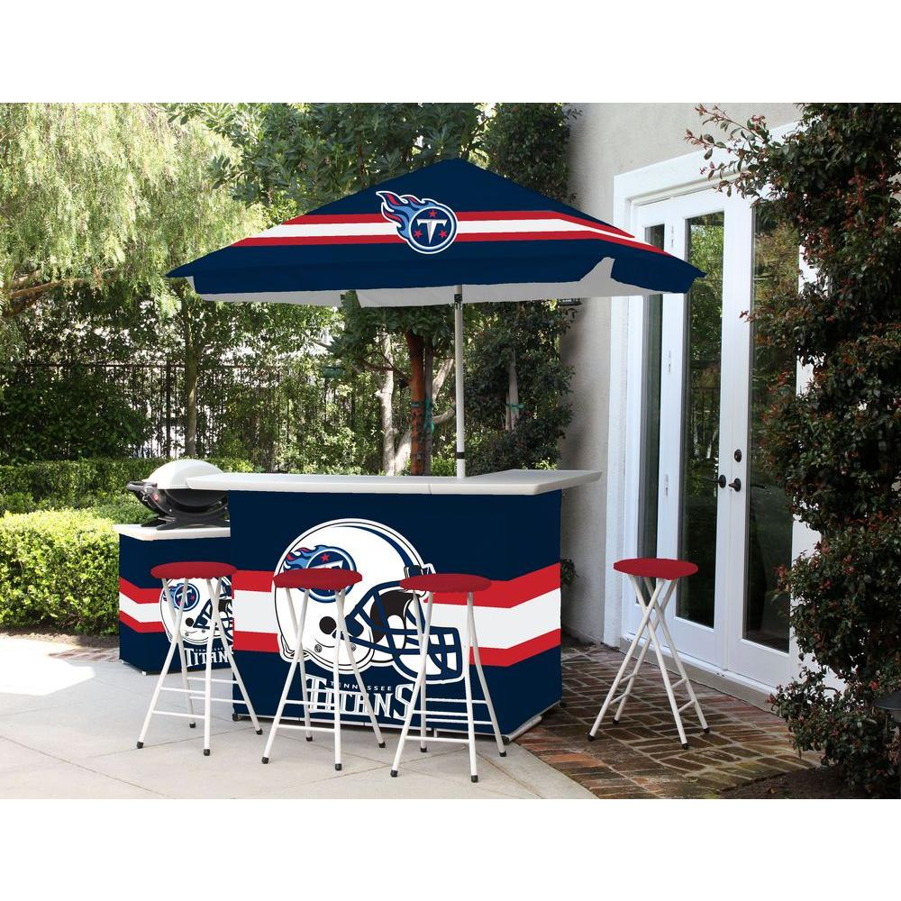 Best of Times Tennessee Titans All-Weather Patio Bar Set with 6 ft. Umbrella