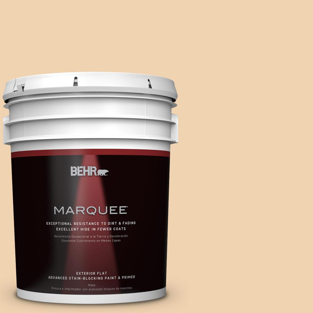 5-gal. #M280-3 Champagne Wishes Flat Exterior Paint