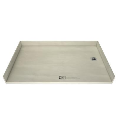Redi Free 37 in. x 54 in. Barrier Free Shower Base with Right Drain and Polished Chrome Drain Plate