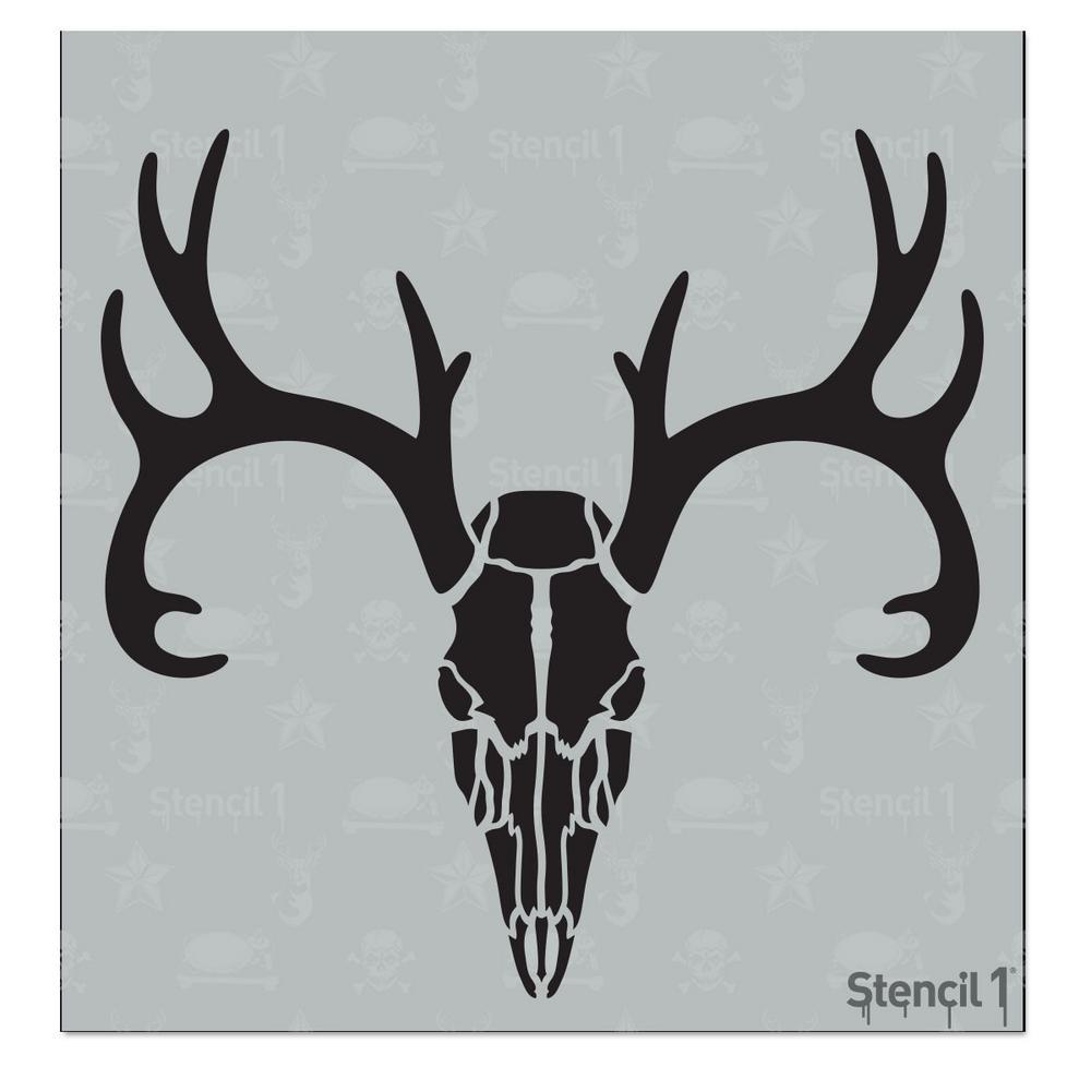Deer Skull Small Stencil