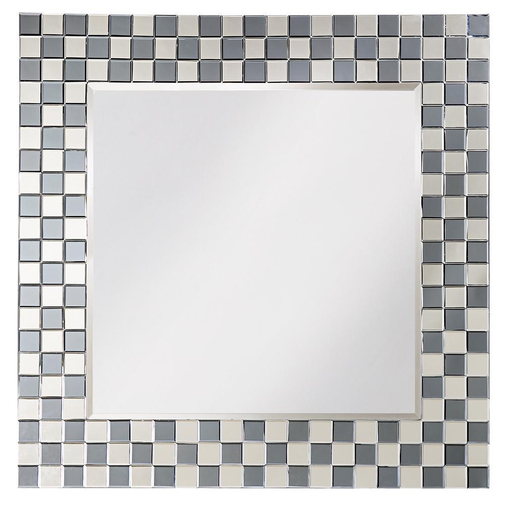 42 in. x 42 in. Michael Checkerboard Mirror