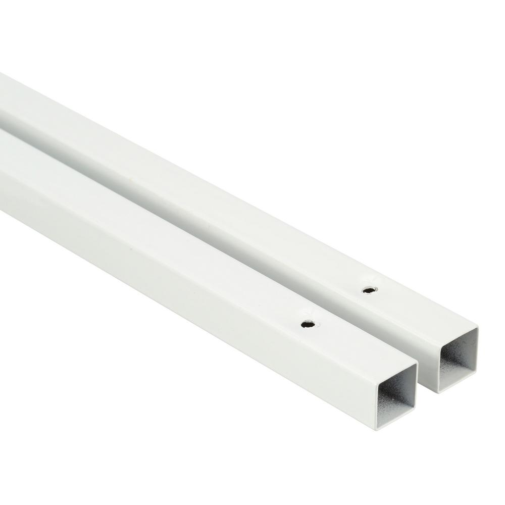 White Epoxy Finish Shelf Support Pole for Wire Shelving ClosetMaid 86 in