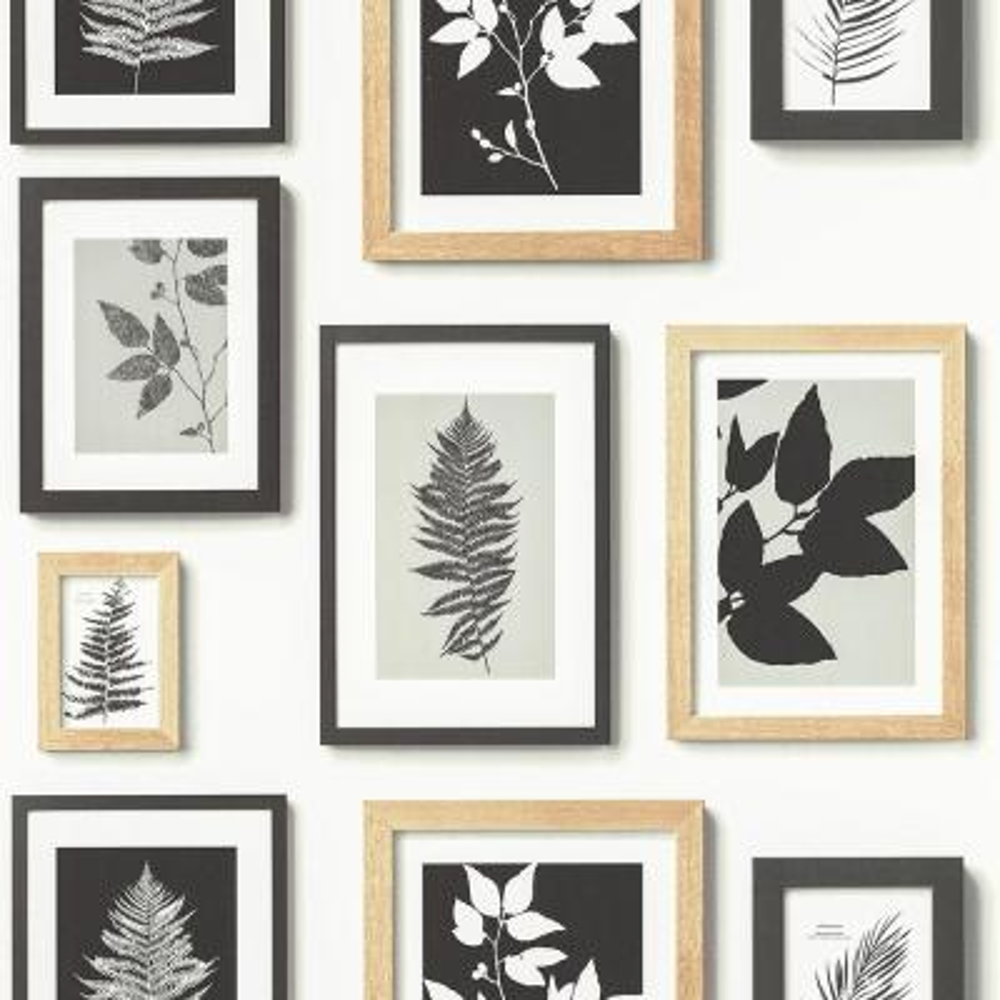56.4 sq. ft. Rumer White Gallery Wall Wallpaper