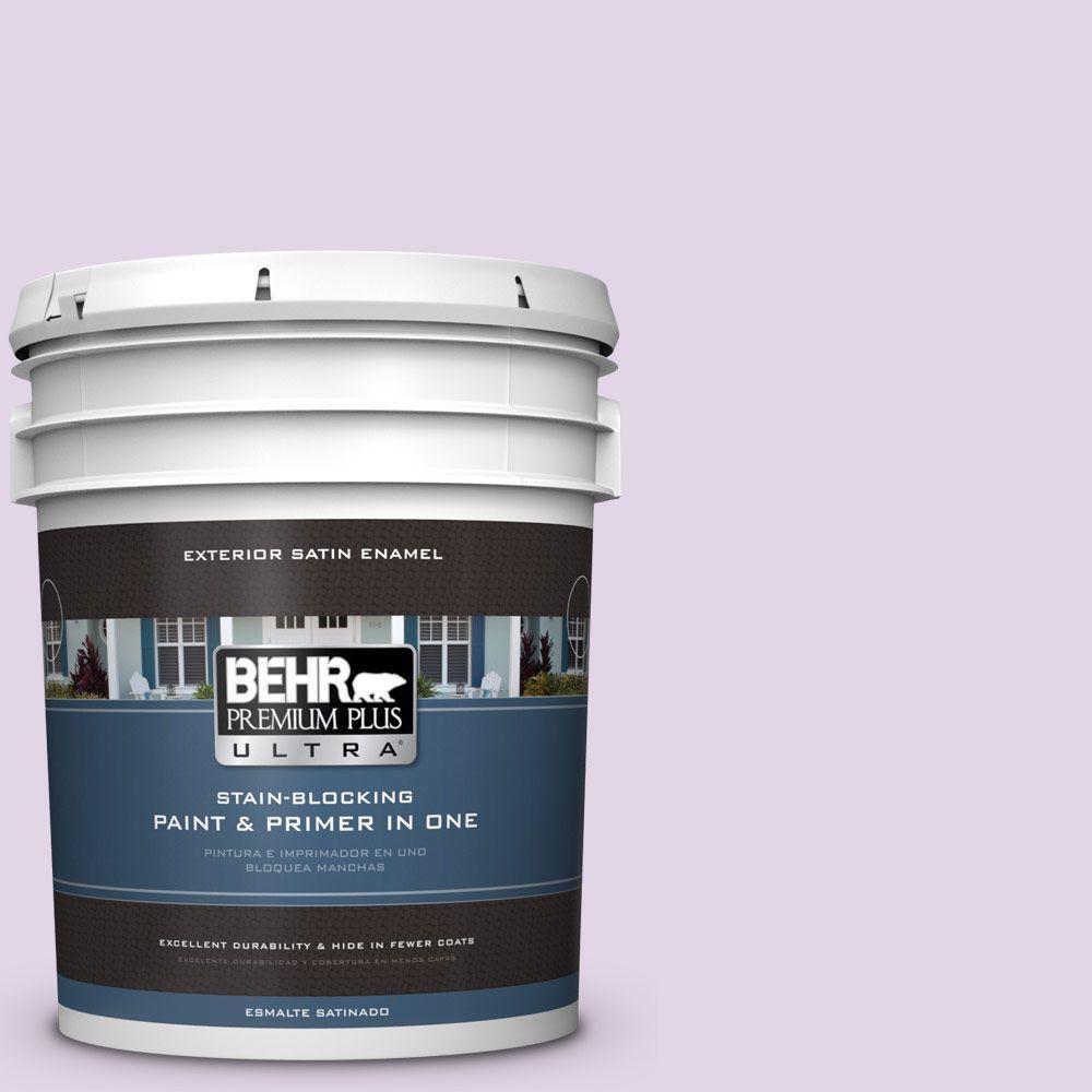 BEHR Premium Plus Ultra 5-gal. #660A-2 Chateau Rose Satin Enamel Exterior Paint