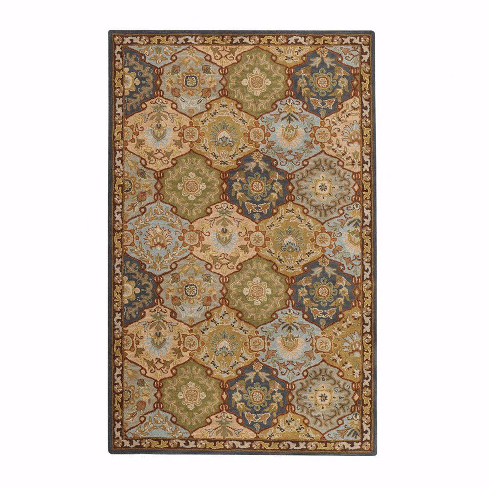 Home Decorators Collection Grandeur Blue Multi 5 ft. x 8 ft. Area Rug