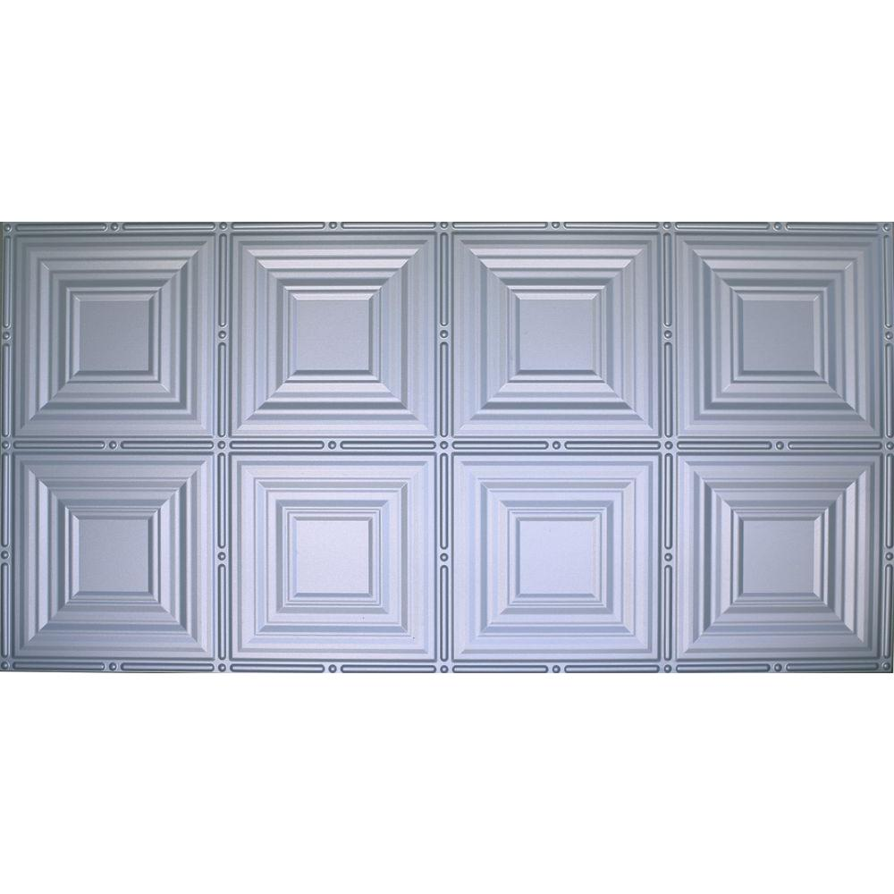 Dimensions Faux 2 ft. x 4 ft. Tin Style Ceiling and Wall ...