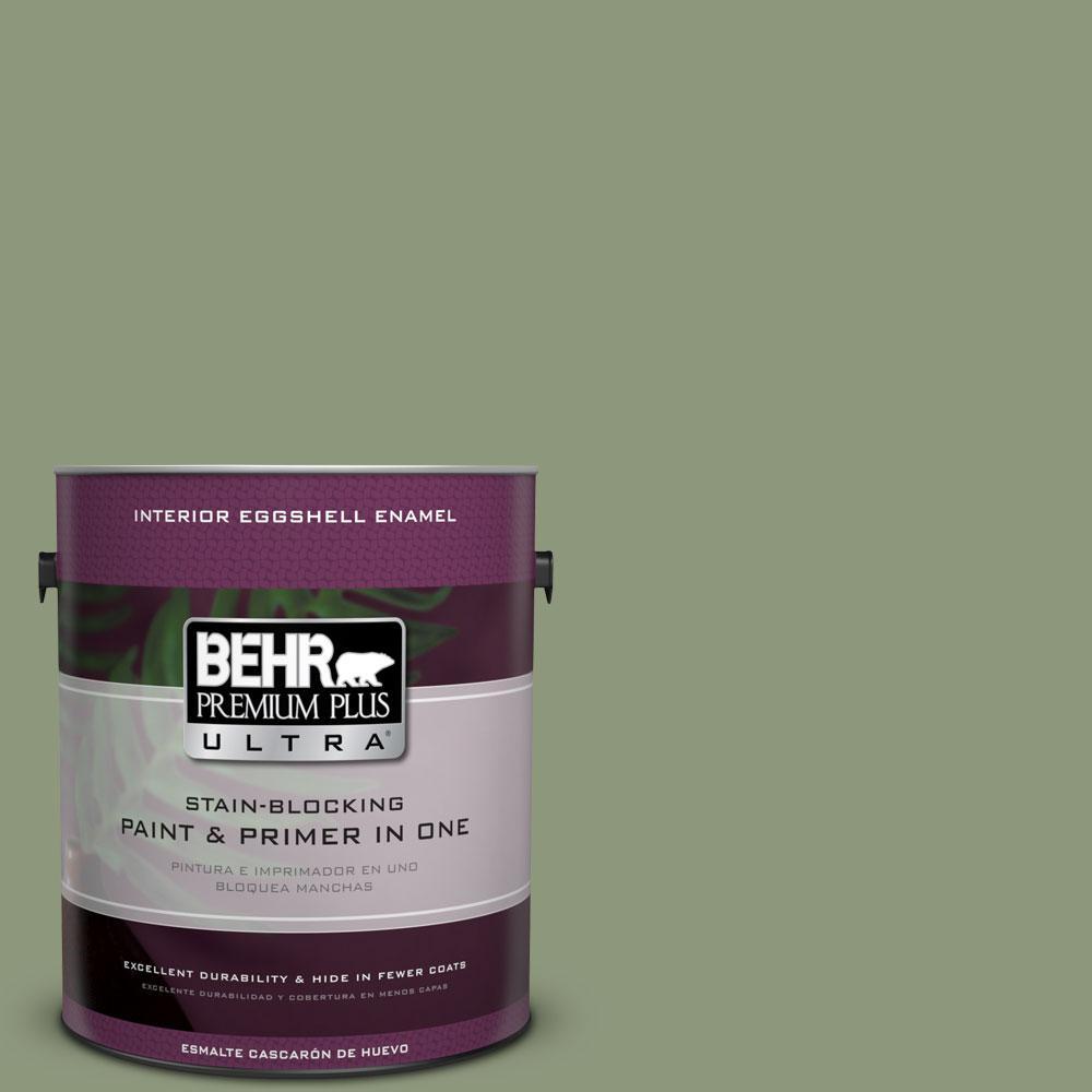 BEHR Premium Plus Ultra 1-gal. #ECC-63-1 Autumn Sage Eggshell Enamel Interior Paint