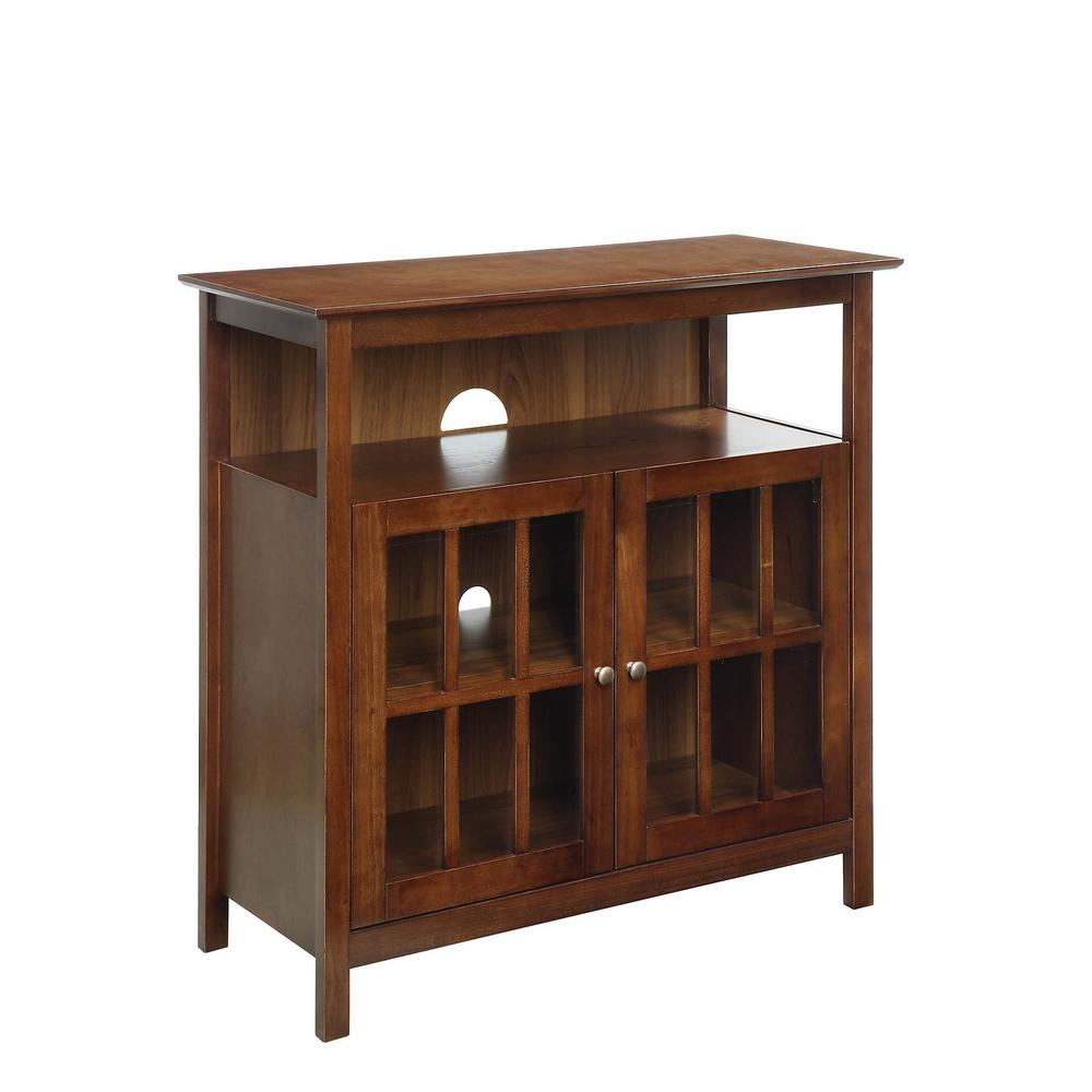 Convenience Concepts Big Sur Dark Walnut Highboy Tv Stand 8066070dwn