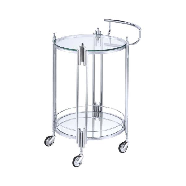 8bd2515b0f64 Kapelle Chrome Serving Cart with Caster Wheels