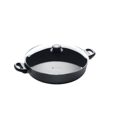 Classic Series 4.8 qt. Cast Aluminum Nonstick Saute Pan in Gray with Glass Lid