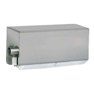 Stainless Solutions Double Post Covered Toilet Paper Holder in Steel with Splash Cover