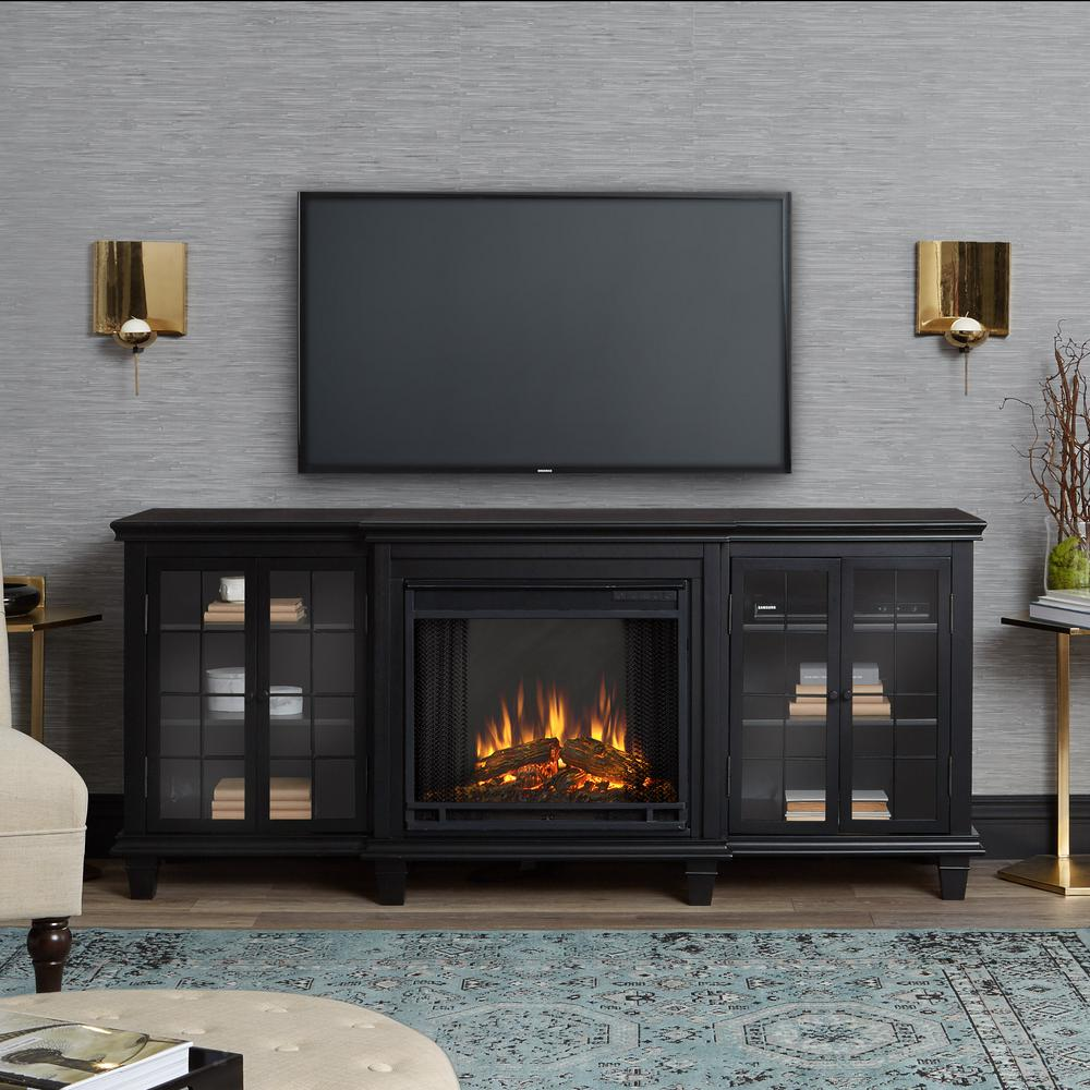 real marlowe 70 in freestanding electric fireplace 88821