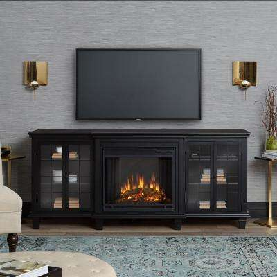 Marlowe 70 in. Freestanding Electric Fireplace TV Stand in Black