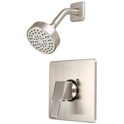 i3 1-Handle Wall Mount Shower Trim Kit in Brushed Nickel (Valve Not Included)