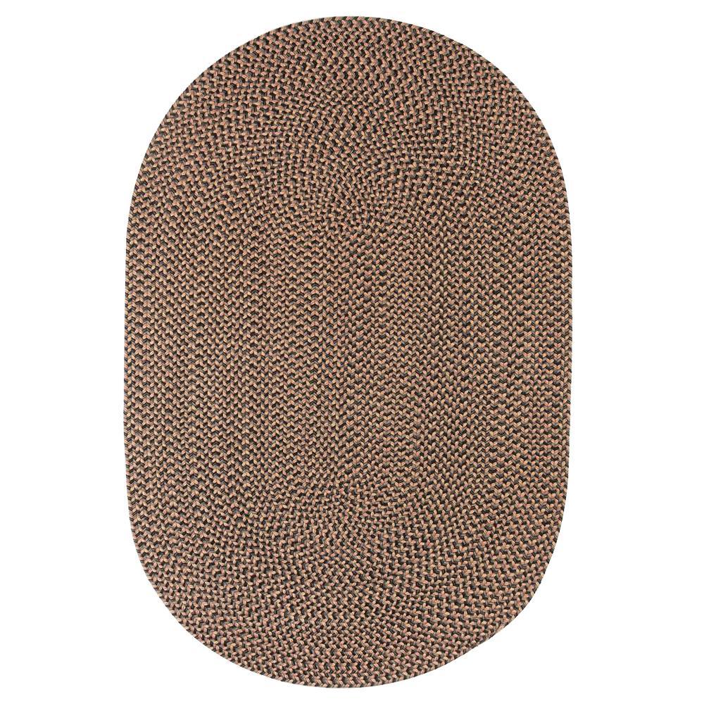 Westport Shadow Tweed 3 ft. x 5 ft. Oval Indoor/Outdoor Braided Area Rug